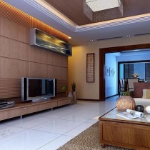 客厅装修效果图欣赏 50款电视背景墙装修效果图4