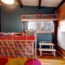 儿童房装修效果图大全2012图片  2012儿童房背景墙装修效果图2