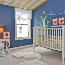 2013最新儿童房窗帘装修效果图6