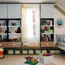 2013最新儿童房窗帘装修效果图1