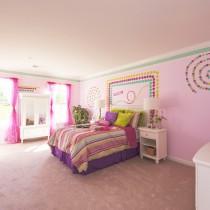 简约女生卧室颜色装修效果图3