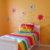 简约女生卧室颜色装修效果图1