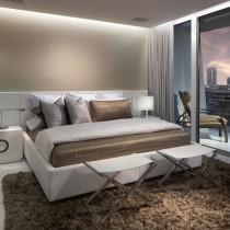简约小卧室床装饰图片1
