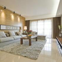 现代风格客厅电视机背景墙效果图2