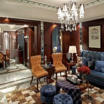 欧式风格客厅水晶吊灯图片欣赏6