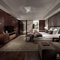 别墅样板房客厅沙发背景墙效果图6