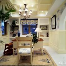 别墅样板房客厅沙发背景墙效果图3