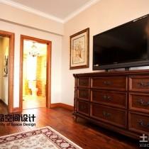 豪华美式别墅客厅装修效果图3