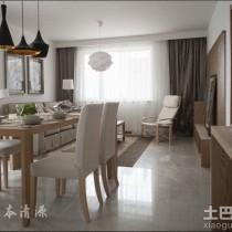 日式简约小户型室内装修设计效果图3