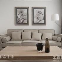 日式简约小户型室内装修设计效果图2