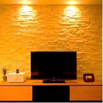 石膏电视背景墙装修图片11