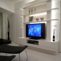 石膏电视背景墙装修图片9