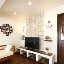 石膏电视背景墙装修图片2