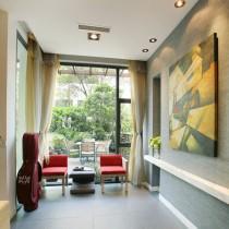 现代简约客厅装饰油画图片8