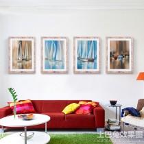现代简约客厅装饰油画图片1