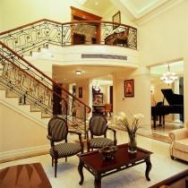 美式风格装修家庭餐厅吊顶效果图4