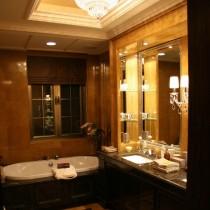 欧式别墅挑高客厅水晶吊灯设计4
