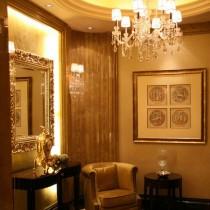欧式别墅挑高客厅水晶吊灯设计1