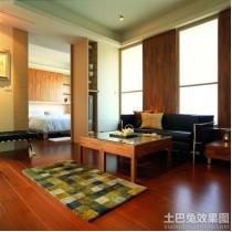 实木装修风格三室两厅客厅效果图9