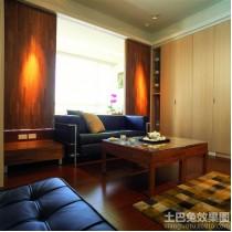 实木装修风格三室两厅客厅效果图4