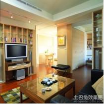 实木装修风格三室两厅客厅效果图2