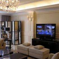 欧式风格三居室电视墙效果图4