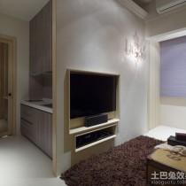 简约60平米二居嵌入式电视墙效果图12