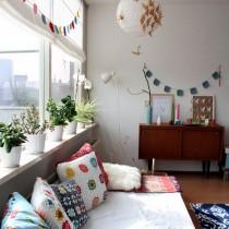 北欧风格二居卧室装修效果图片2