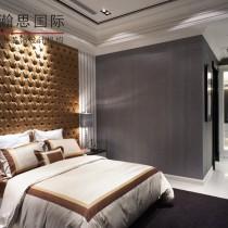 现代欧式风格卧室背景墙装修效果图3