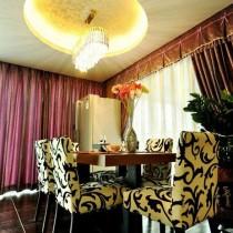 现代三居餐厅圆形吊顶设计9