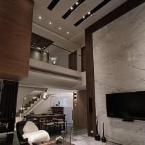 极简风格楼中楼装修效果图 (10 张图)图片