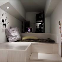 现代风格30平米单身公寓装修效果图 (7 张图)