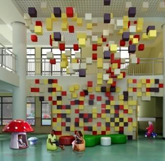 幼儿园大厅墙面设计图片