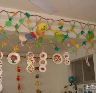 幼儿园走廊吊饰布置图片