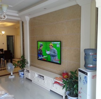 欧式客厅瓷砖电视柜背景墙效果图