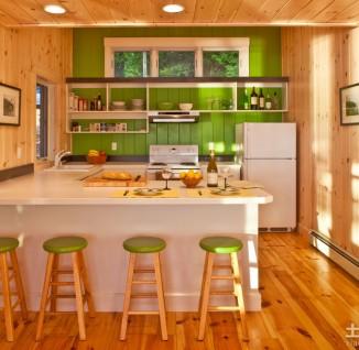 厨房绿可生态木吊顶效果图