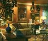 西式橙色客厅装修效果图