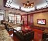 2013新中式客厅电视背景墙装修效果图欣赏