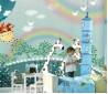 地中海儿童房背景墙装修效果图  儿童房效果图