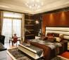 现代简约卧室背景墙效果图
