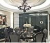两室两厅欧式新古典餐厅圆形吊顶装修效果图