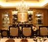 欧式餐厅水晶灯吊顶装饰效果图