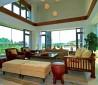 挑高客厅家具摆放效果图片欣赏