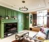 绿色电视背景墙装修效果图