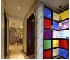过道彩色背景墙装饰效果图