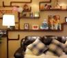 客厅墙上置物架效果图