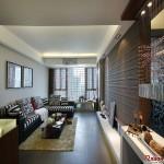 客厅的装修遵循着简约大方的原则,壁纸和装饰画也都点到为止。