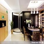巧妙玄关化解风水难题,北京泰吉伟邦设计公司,高震,餐厅,展示柜,造型天花板,冷气摆放设计,造型主墙,