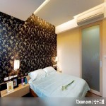 巧妙玄关化解风水难题,北京泰吉伟邦设计公司,高震,卧室,造型天花板,造型主墙,床头柜,冷气摆放设计,