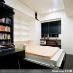隐藏式柜体设计,东易日盛CBD工作室,刘绍军,书房,卧塌,书架层板,书柜,阅读区,收纳柜,